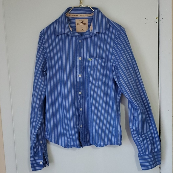 Hollister Other - Hollister blue and white men's M long sleeve shirt